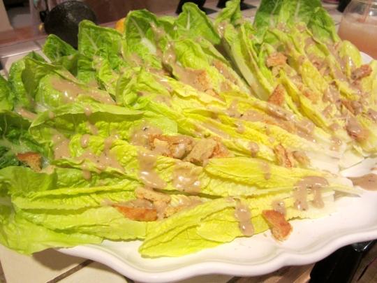 finger caesar salad