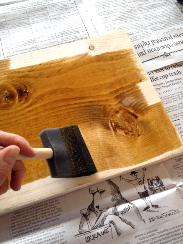 stain, paint or enjoy the natural wood of your board