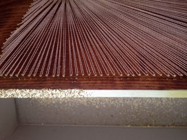 finish the side of the boards as desired. glitter or leaving them plain both look great