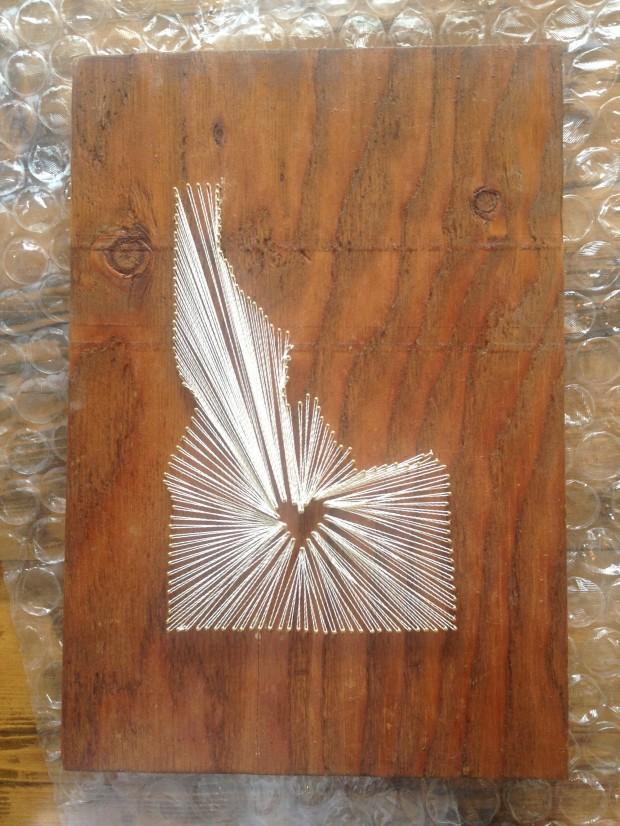 Idaho state string-art!