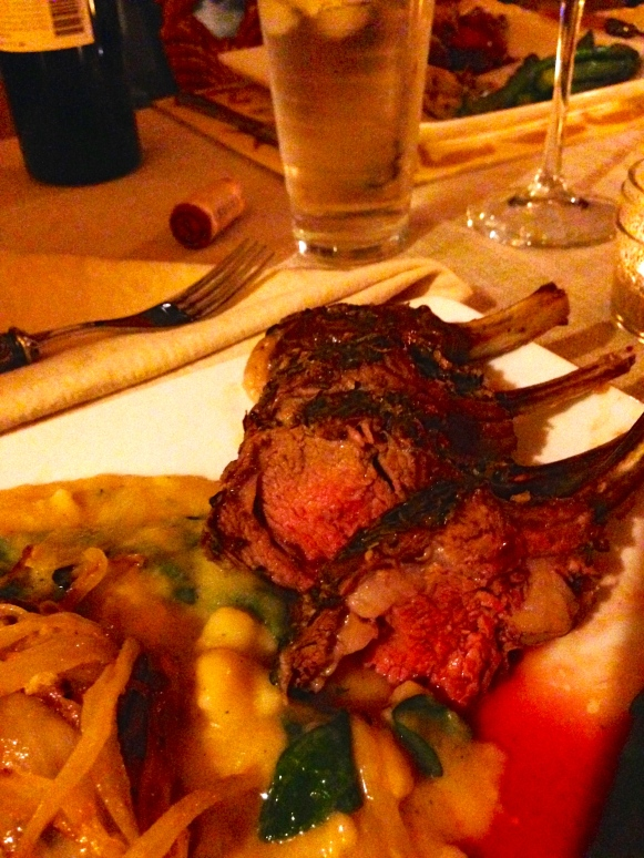 lamb lollipops! you can eat them directly off the bone — they're so tender!