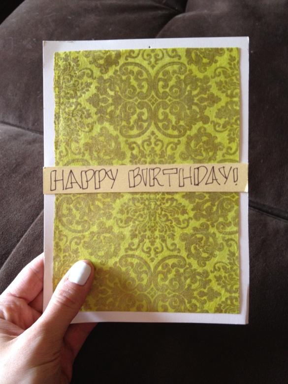 a birthday card for taylor!
