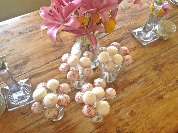 pretty cake pop bouquets ready for a party!