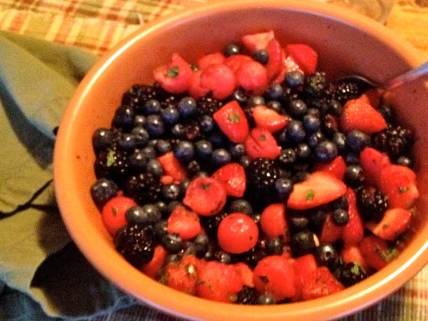 fresh fruit salad!