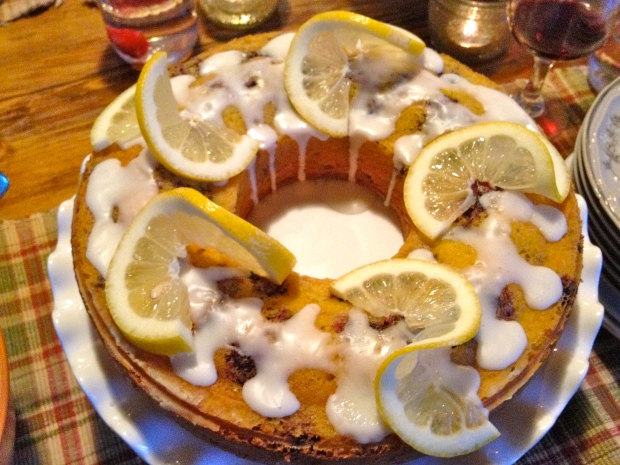sliced lemons for decoration