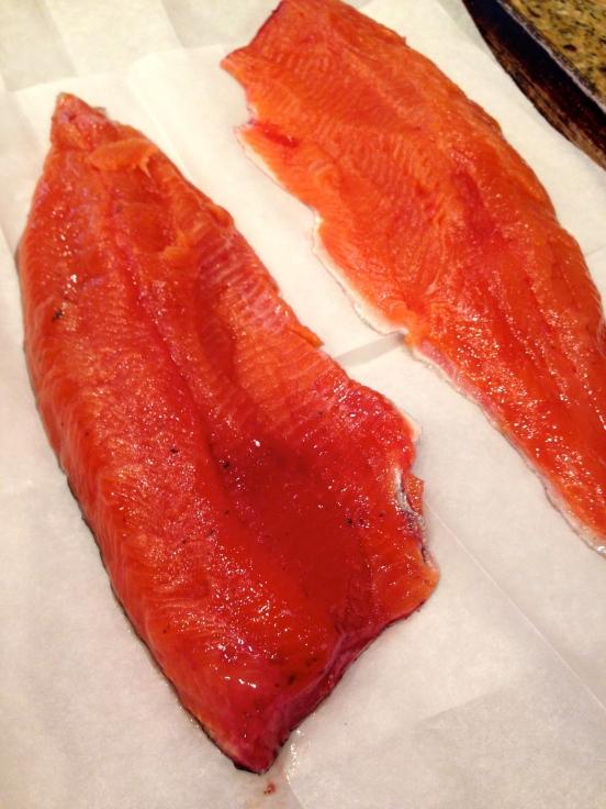 fresh caught Idaho trout!