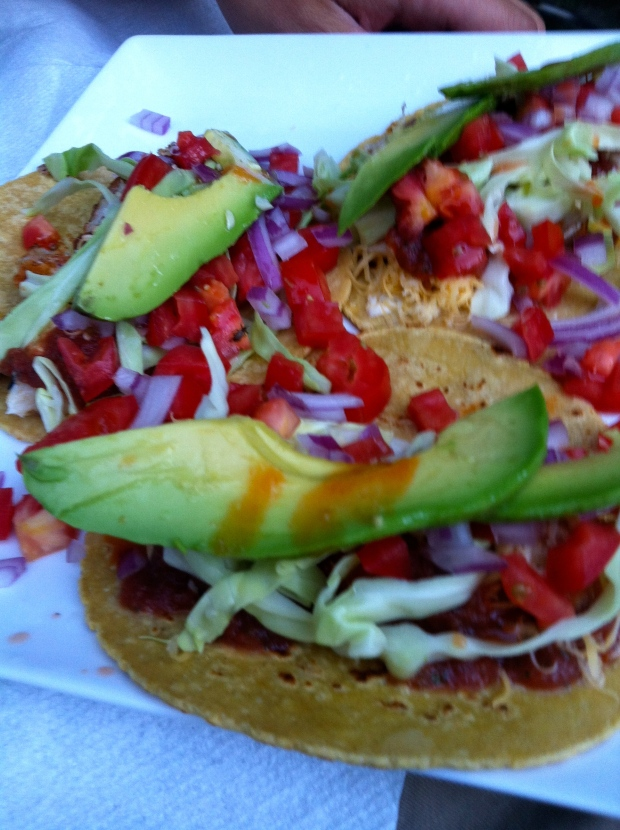 fish tacos made with fish caught in Mexico