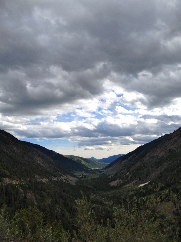 the view towards home topping over Trail Creek
