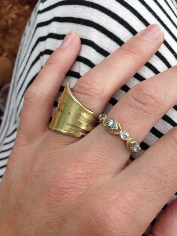 gold rings — I bought the one on the left at makeshift accessories
