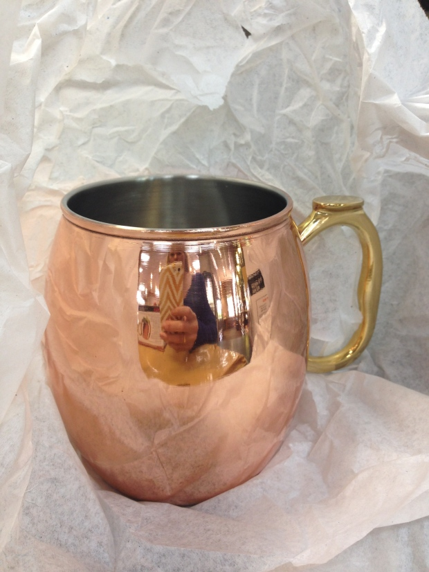 shiny copper mug
