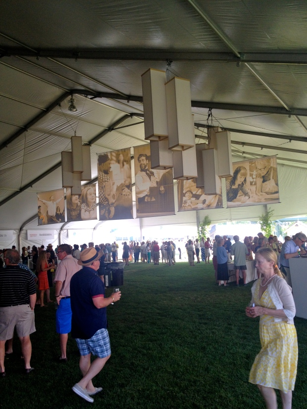large wine tent