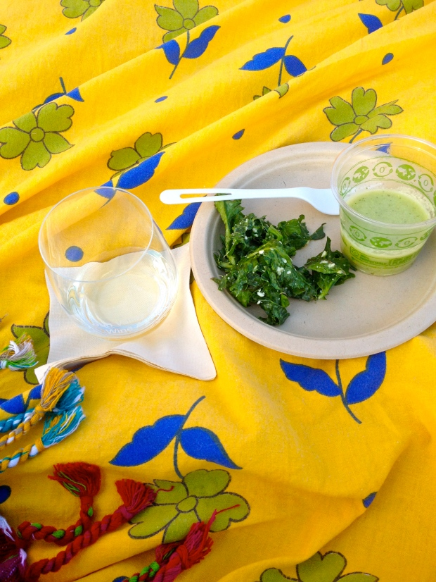 green machine kale salad & cucumber soup