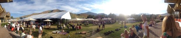 panoramic of the festivities