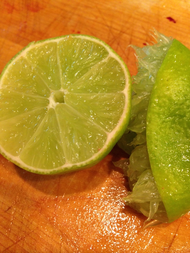 juicy limes — I only needed two!