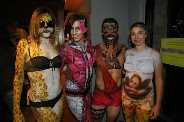 the brave body painted models