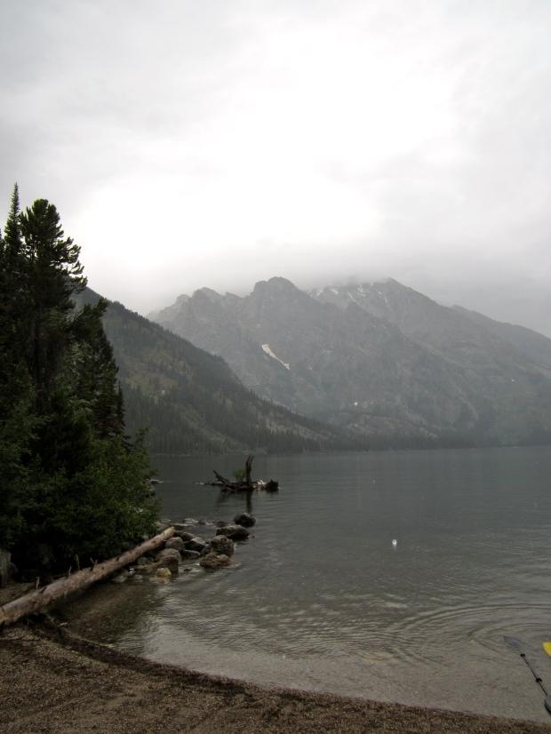 Jenny Lake in the rain