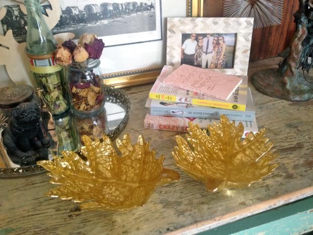 gold leaf dishes