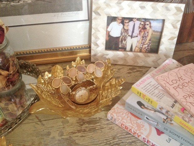 gold leaf jewelry dish!