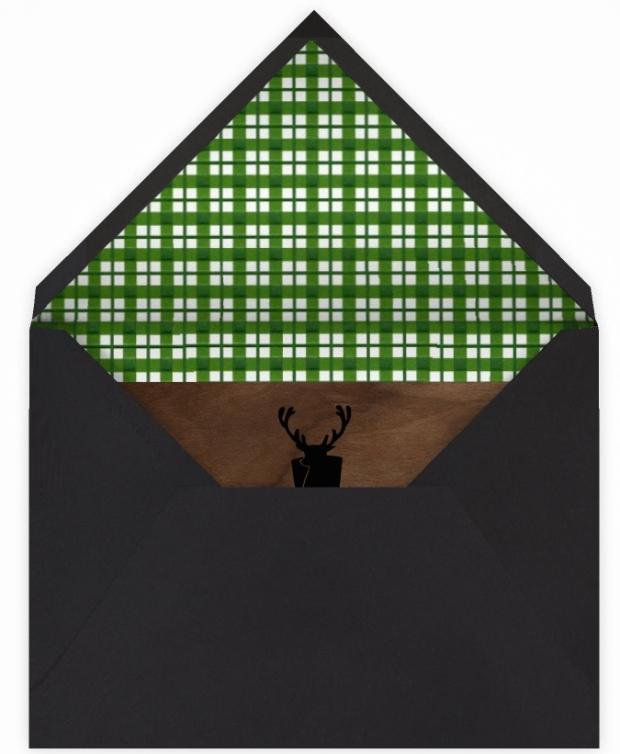 hunter green envelope lining