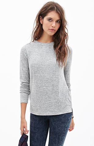 """""""classic heather knit top"""" from Forever 21 — It's so comfy and a great fit!"""