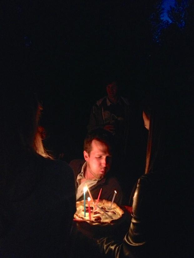 making a wish!