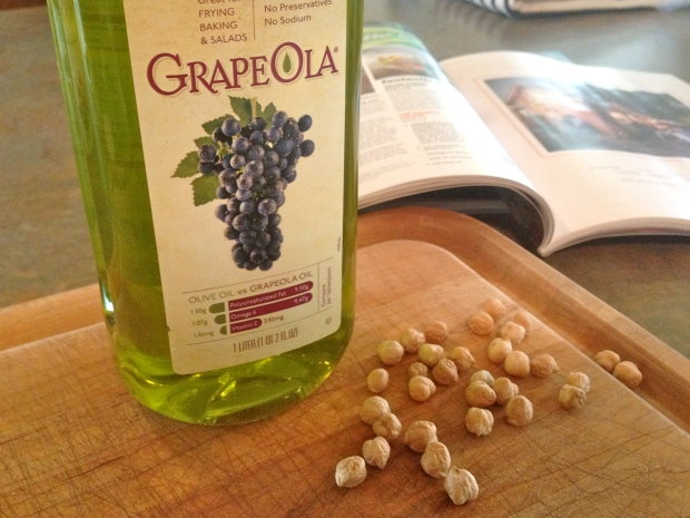 i subbed grape seed oil for olive oil