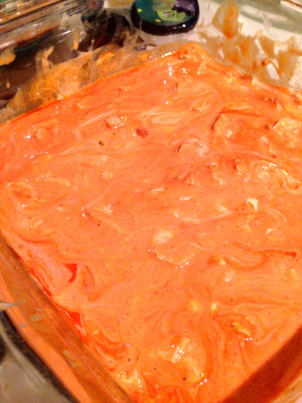 pre-baking — yes, it looks a little radioactive :)