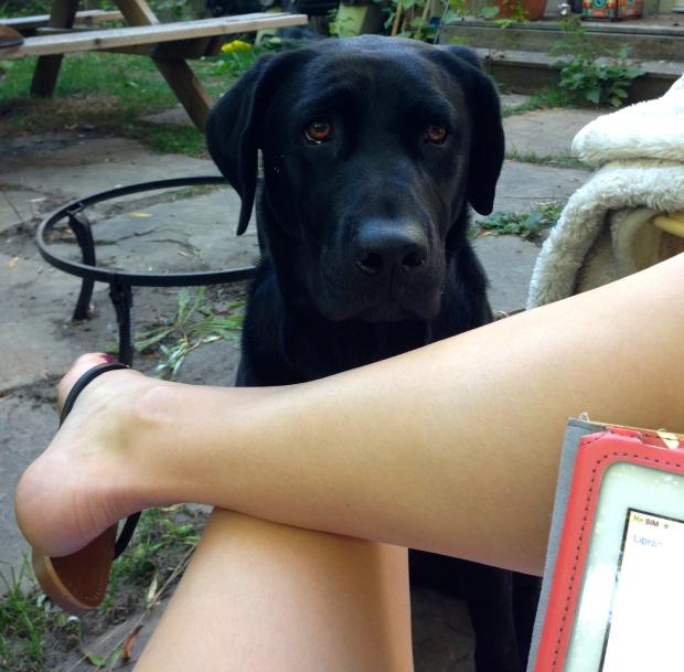 Par par helping me read outside