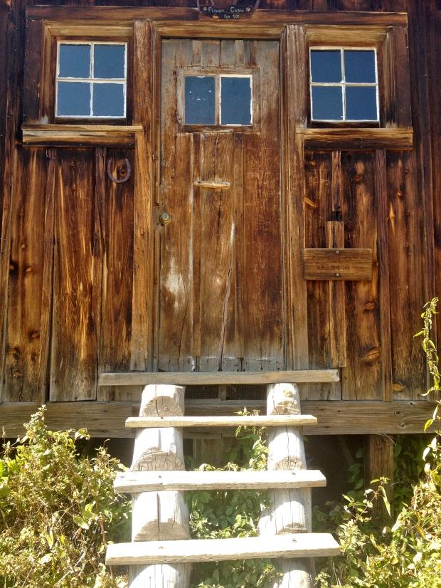 the cabin door...