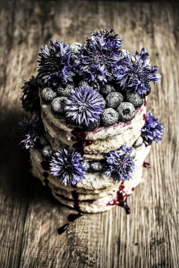 """""""hazelnut dacquoise with blueberry cream"""""""