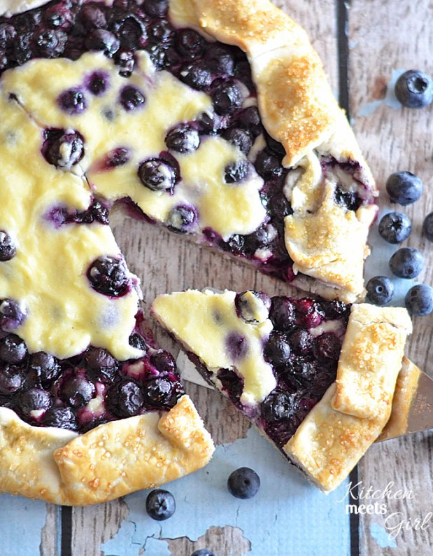 blueberry cheesecake galette - kitchen meets girl