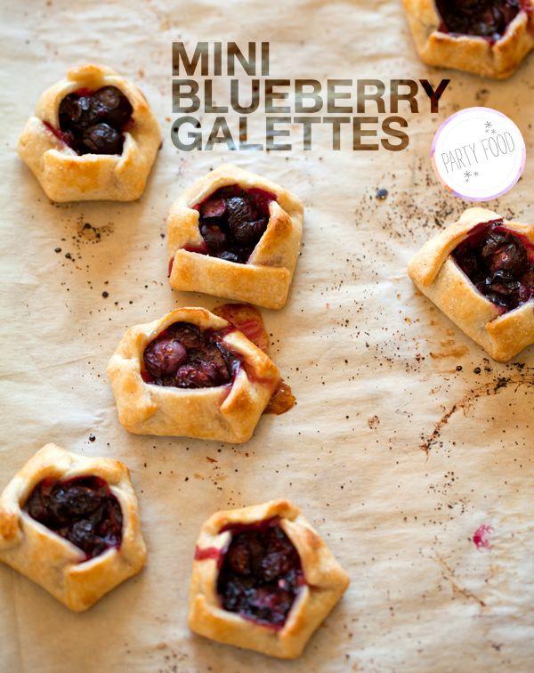 mini blueberry galettes