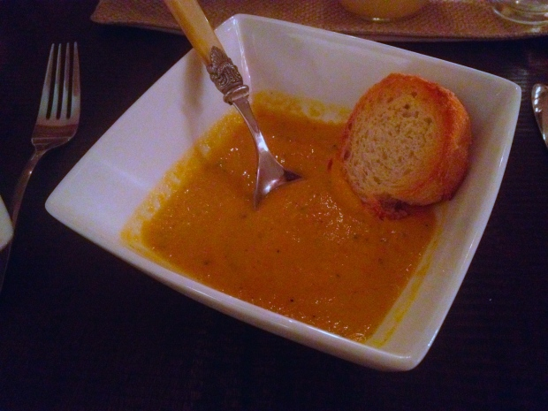 delicious butternut squash soup by Rachel and a brilliant fax