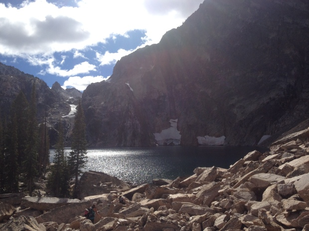 first view of goat lake
