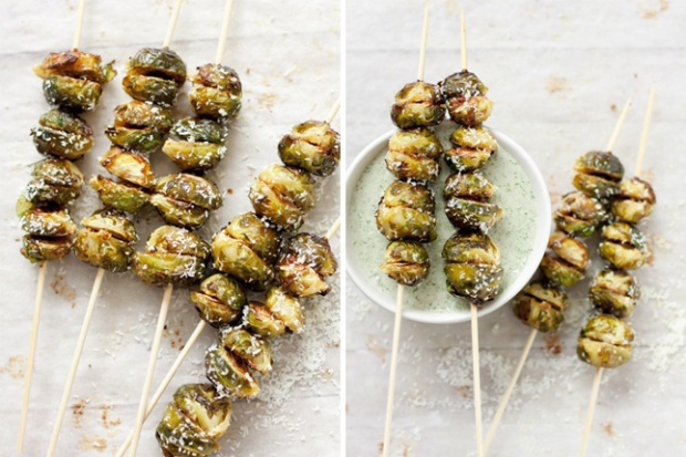 brussels sprout kebabs from brit & co