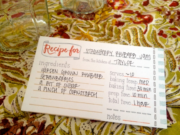 adorable recipe cards that were a gift from my lovely friend bri!
