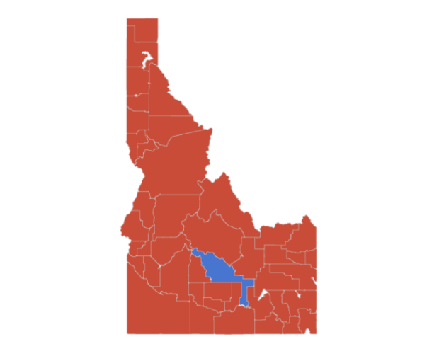 Idaho's election results...woooo, Blaine County!