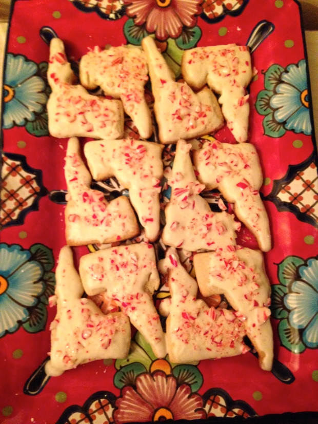 """""""homemade"""" (mostly) Idaho candy cane crush cookies"""