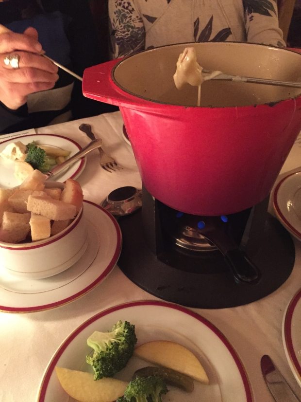 celebrating his life with some much needed fondue