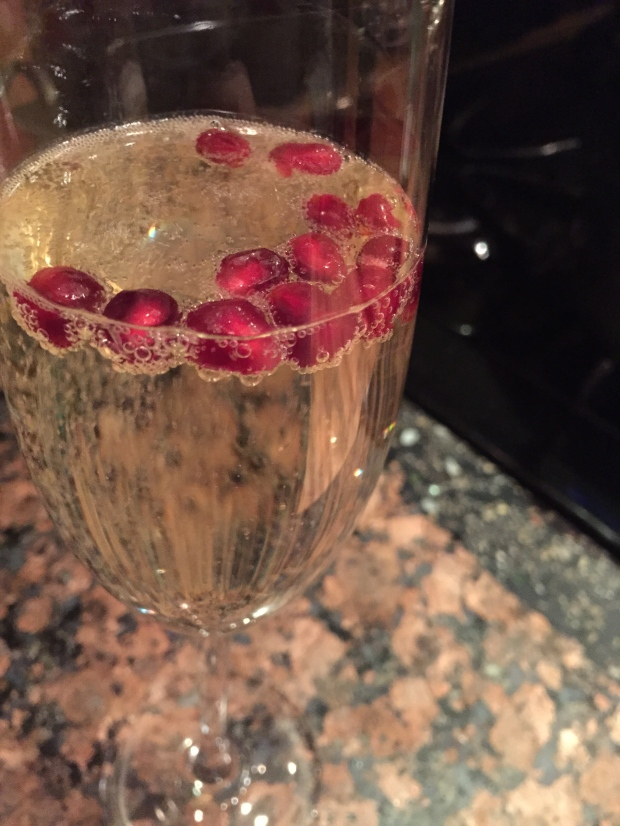 add pomegranate arils to your prosecco for a pop of color and refreshing flavor
