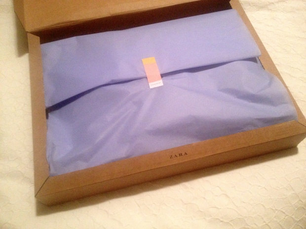 pretty package from zara!
