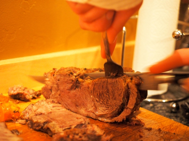 carving the chuck roasts