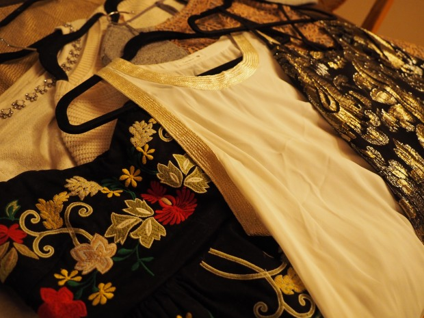 festive tops from anthropologie, nordstrom rack, and nordstrom (ella moss)