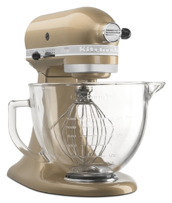 kitchenaid's champagne gold stand mixer