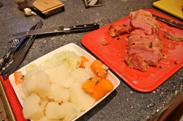 had to boil some cabbage, carrots, and more potatoes with the traditionally prepared corned beef!