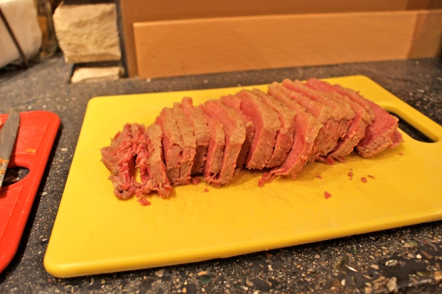 baked corned beef with brown sugar, cloves, and sun valley mustard
