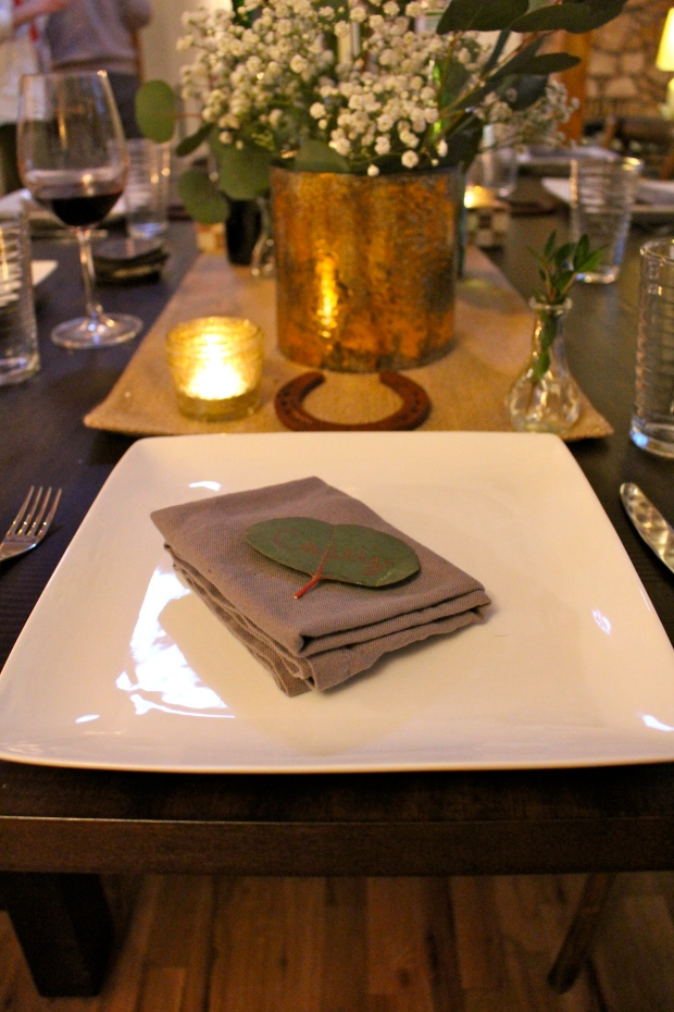 st patrick's day place setting