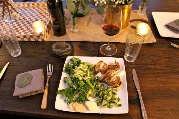 Taylor's vegetarian plate — I love having her over for dinner because I feel like I eat healthier!