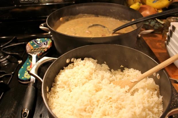 duck gumbo over rice