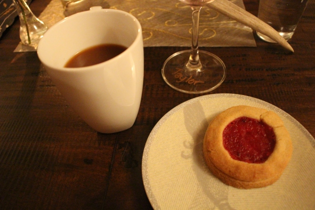 post-dinner coffee and dessert